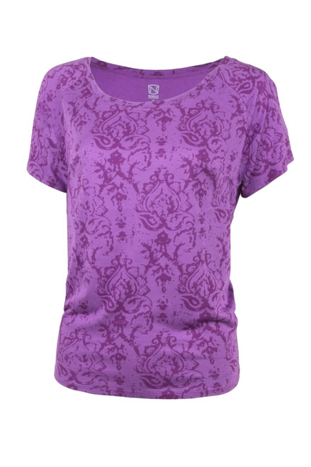 Noble Outfitters 22510-604 Womens Grape Lorinda Top Shirt