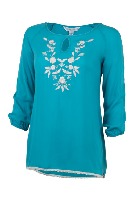 Noble Outfitters 21026-833 Womens Jolene Peasant Top Shirt