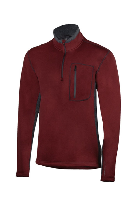 Noble Outfitters 11504-442 Mens Fortitude Quarter Zip Burgundy Heather