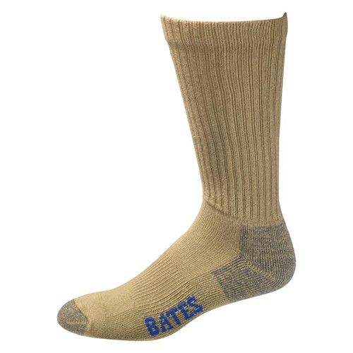 Bates Cotton Comfort Army Brown 3 Pk Socks Made in the USA