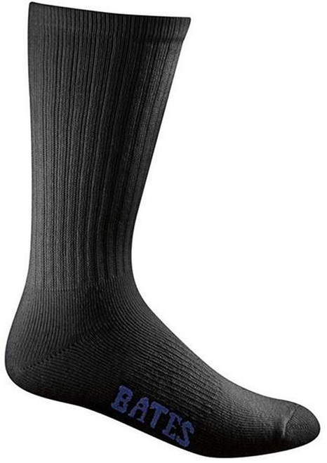 Bates Footwear Cotton Duty Crew Black 4 Pk Socks Made in the USA