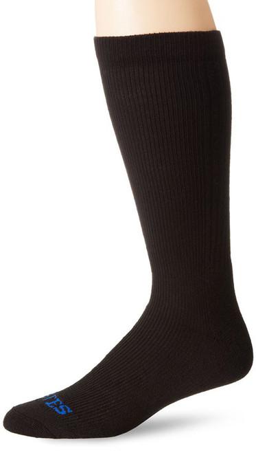 Bates Mens Thermal Uniform Mid Calf Black 1 Pk Large Socks Made in the USA