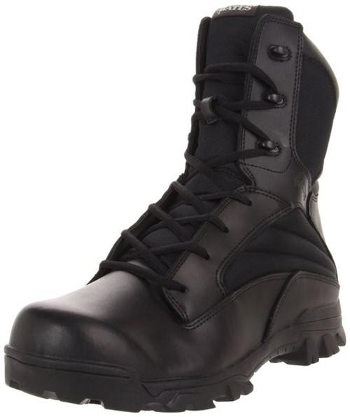 Bates 2068 Mens 8 Inch Leather Nylon ZR8 Side Zip Uniform Boot