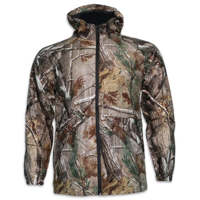 Walls 32235AP Boys Youth Camo Hooded Waterproof Rain Jacket