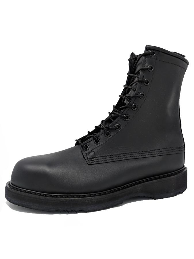 "Bates 1950 Mens 8"" Army/Navy Black Steel Toe Boot"