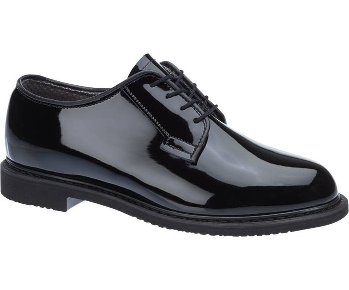BATES 942-B MENS LITES® BLACK HIGH GLOSS OXFORD SHOE