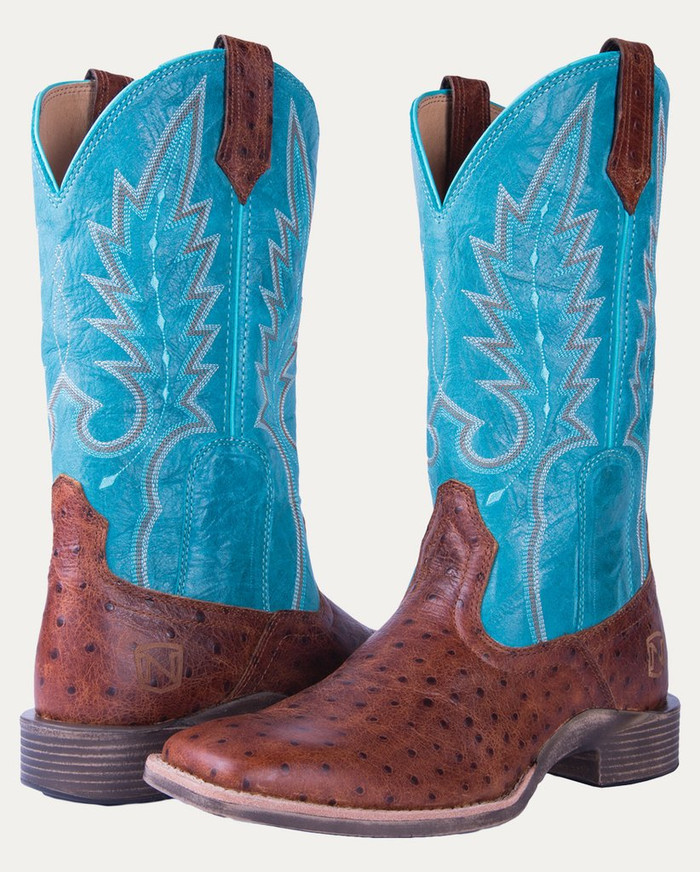 Noble N66029-149 Womens Cognac Cheyenne All-Around Square Toe Boot