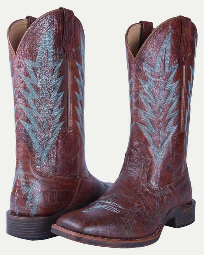 Noble N66030-141 Womens Distressed Cognac Dakota All-Around Square Toe Boot
