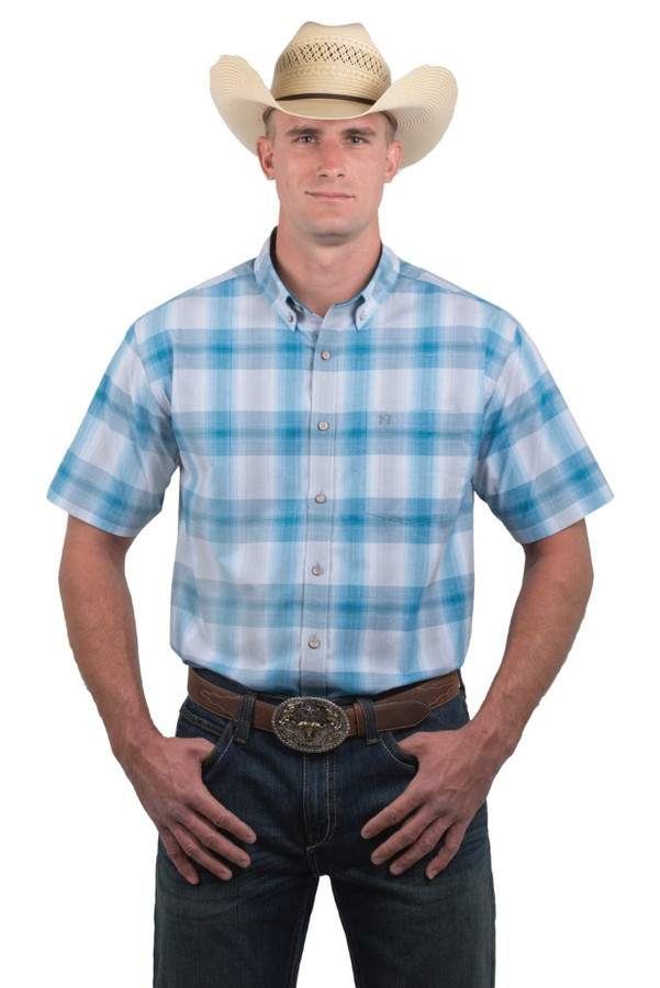 Noble Outfitters 12000-739 Mens Generations Fit Plaid Short Sleeve Shirt