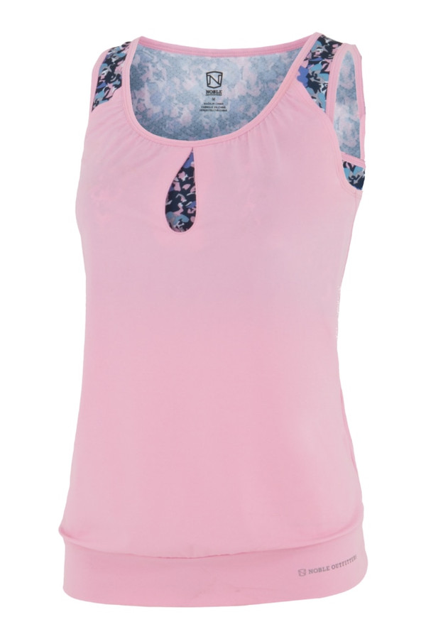 Noble Outfitters 20505-061 Womens Sweeet Lilac Katie Double up Tank Shirt