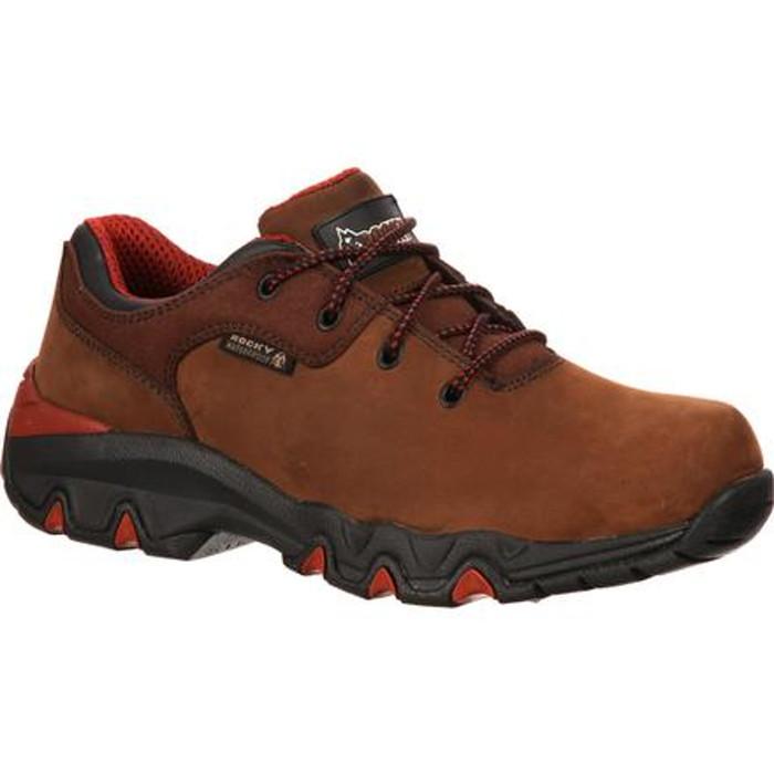 Rocky RKYK066 Mens Bigfoot Waterproof Brown Oxford Work Shoe