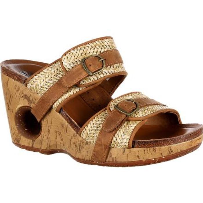 Rocky 4EurSole RKH087 Womens Splendor Double Strap Slide Sandal