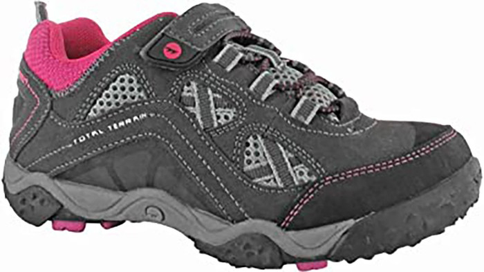 Hi-Tec 31278 Boy's TT Elastic Lace Jr Sneakers Charcoal/Cyclamen