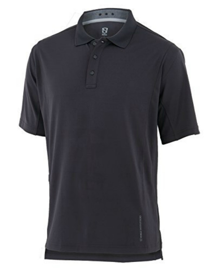 Noble Outfitters 12500-015 Mens Coolflo Performance Asphalt Polo Shirt