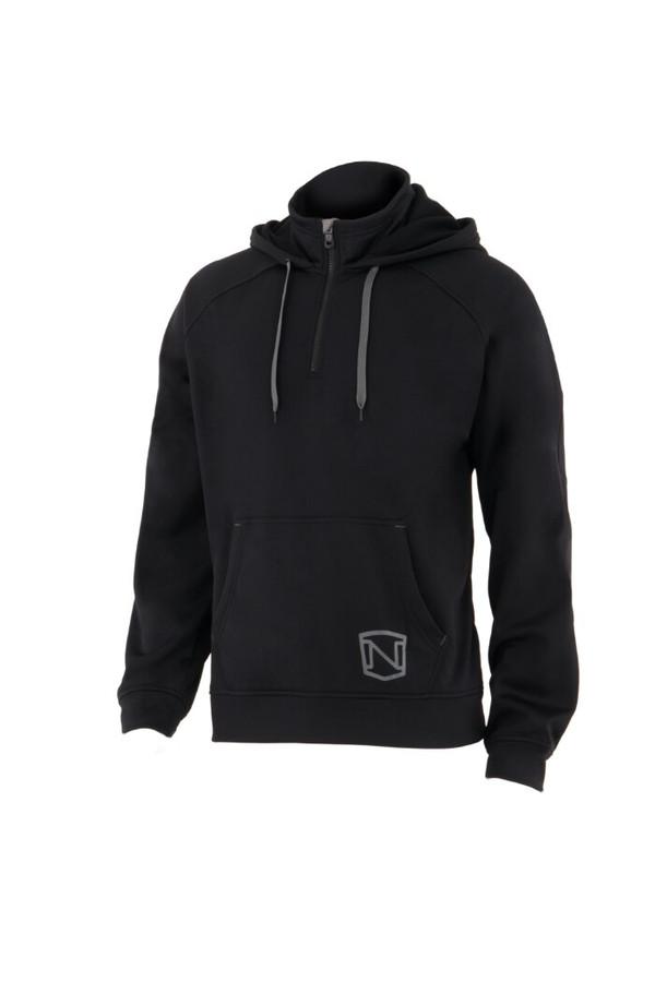Noble Outfitters 18502-019 Mens Warmwear Quarter Zip Black Hoodie Jacket