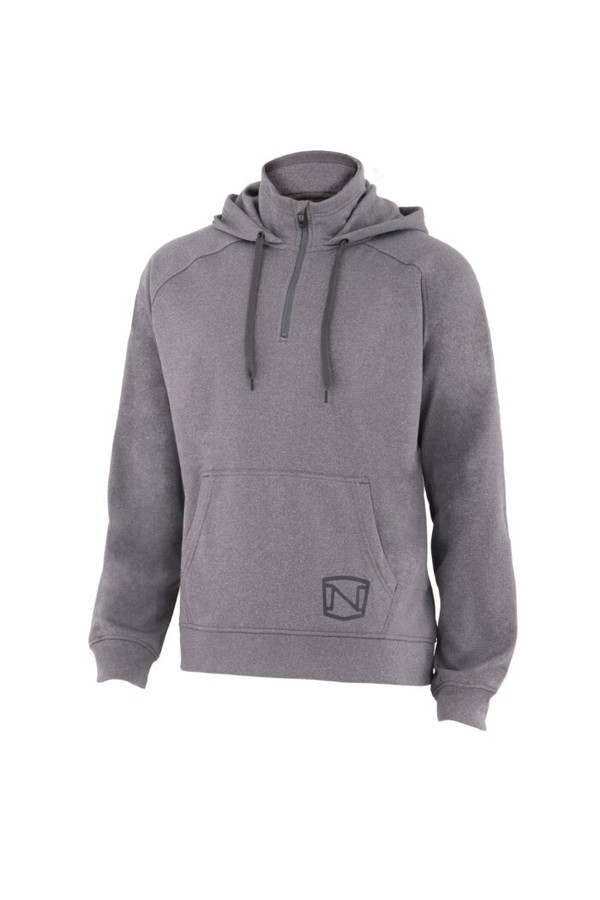 Noble Outfitters 18502-016 Mens Warmwear Quarter Zip Gray Hoodie Jacket