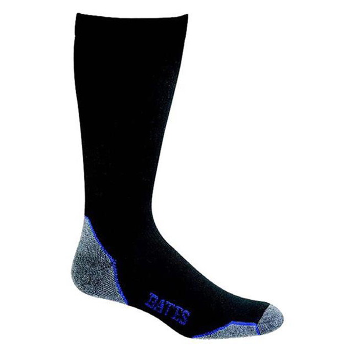Bates Footwear Moderate Compression Black 1 Pk Large Socks Made in the USA