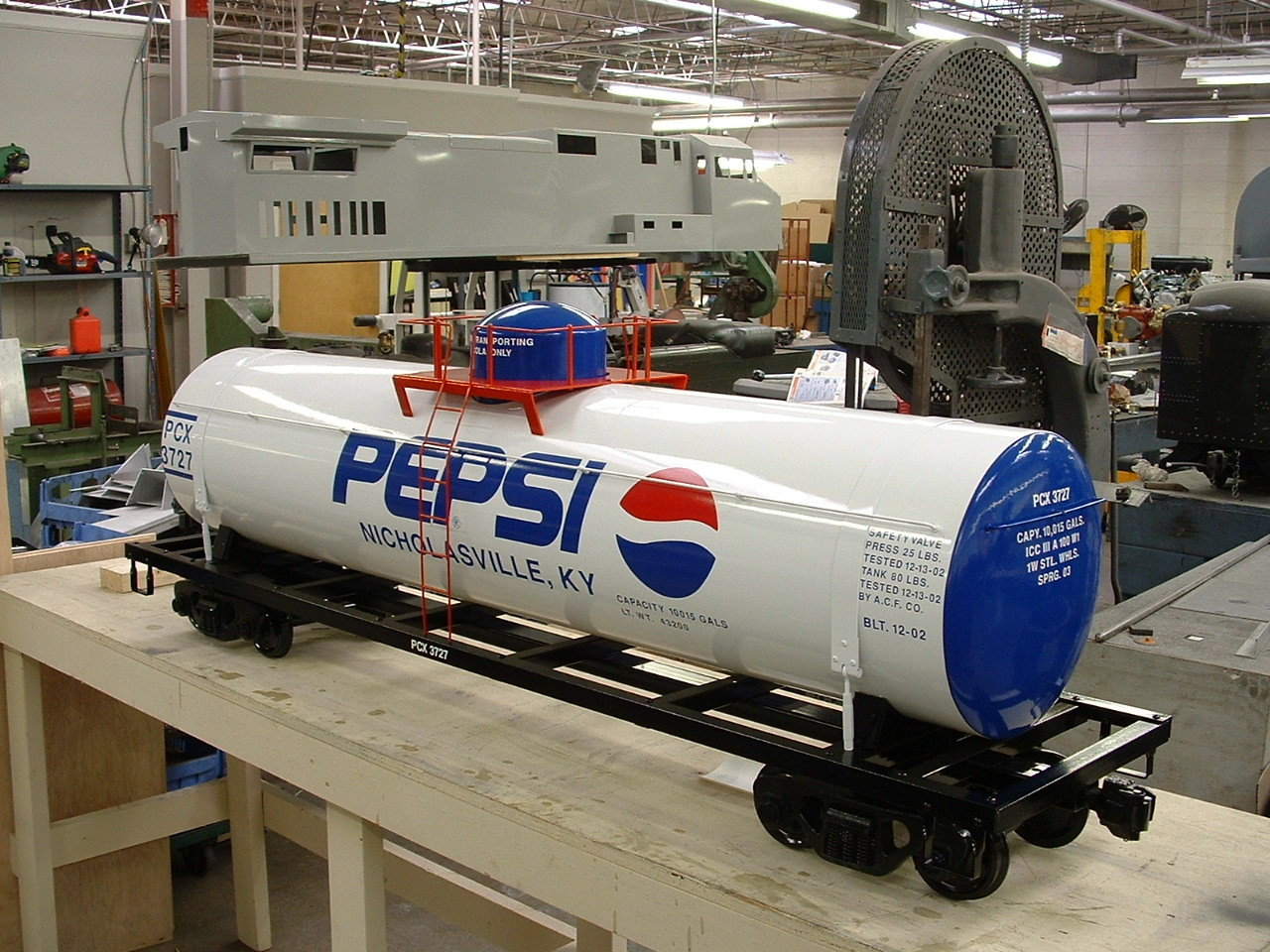 Tank Car 5' Body (Assembled)