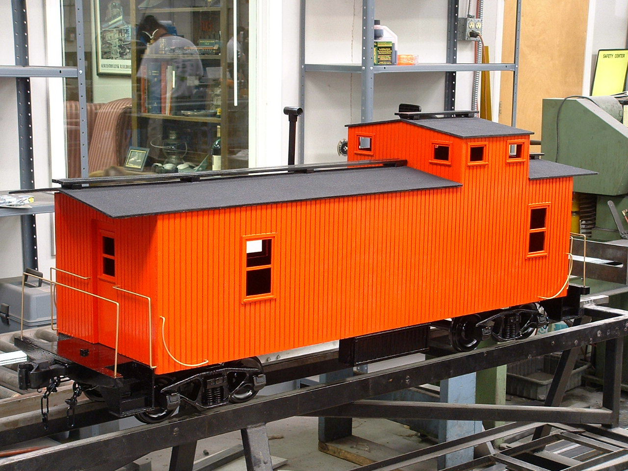 Wood Caboose End Cupola Body (Assembled)