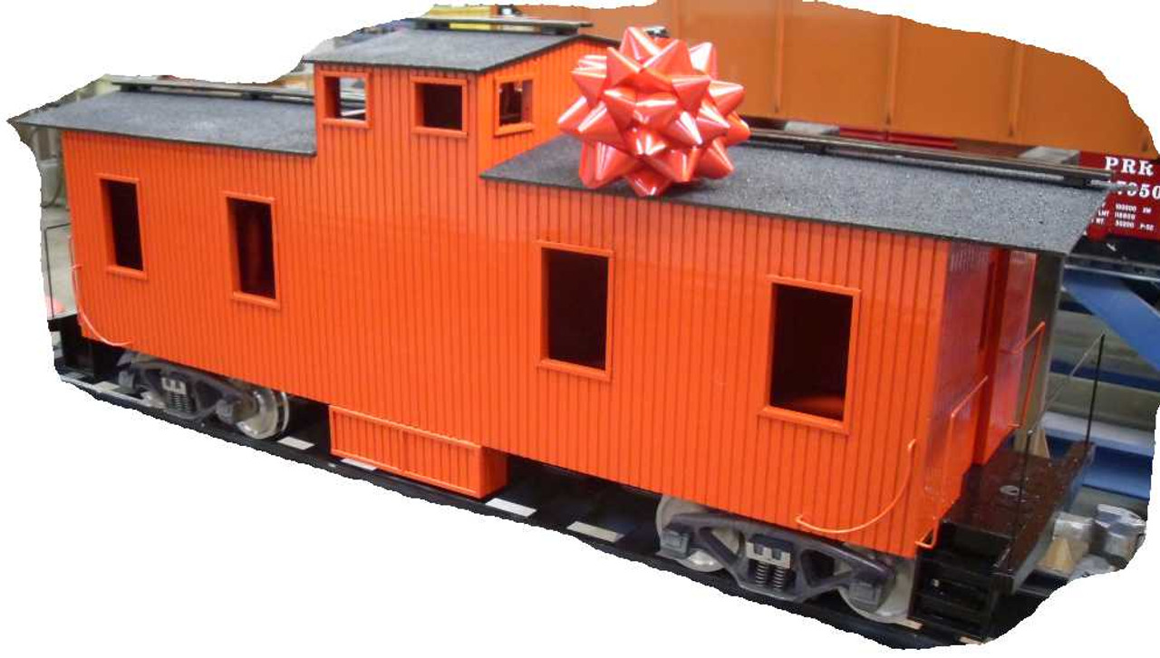 Wood Caboose Center Cupola Body (Assembled)
