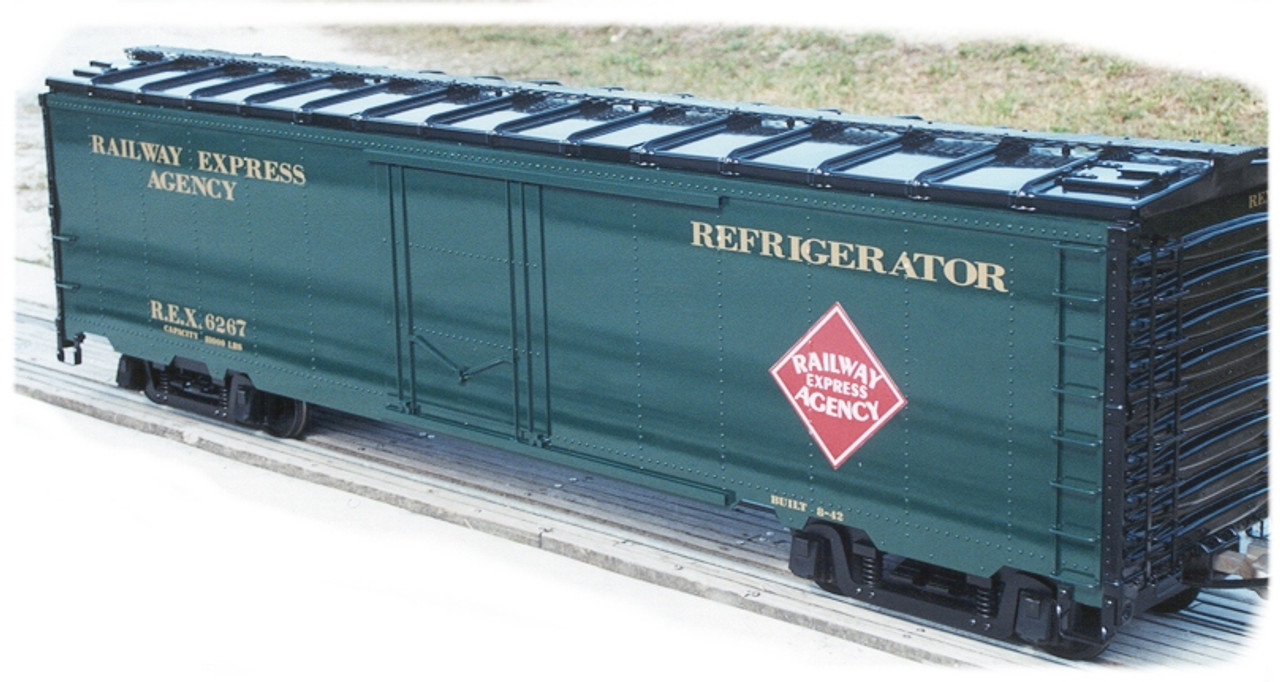 50' Express Reefer, Steel Type, Unpainted, IN STOCK with Ice Hatches (Assembled)