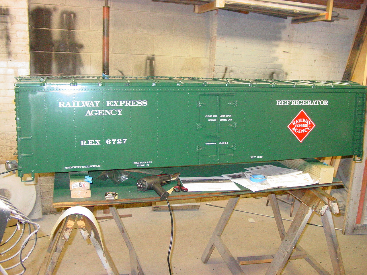 50' Express Reefer, Steel Type, with Ice Hatches (Kit)