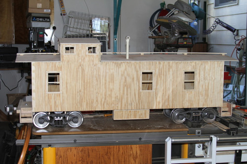 Wood Caboose End Cupola Body (Kit)  IN STOCK