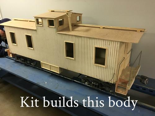 Wood Caboose Center Cupola (Kit)