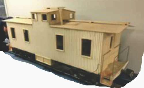 Wood Caboose Center Cupola Body--unpainted--IN STOCK