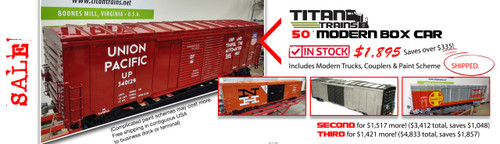 SALE!  50' Modern Box Car Body, Painted! FREE SHIPPING*