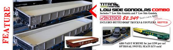 Low Side Gondolas Combo | 7' & 5' Low Side Gondolas, $2,349