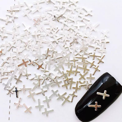 Silver Cross Charms (25)