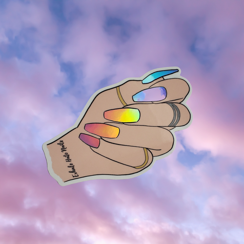 Holo Nailfie Vinyl Stickers