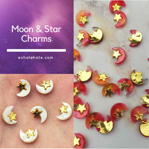 Moon & Star Charms | Pack of 2
