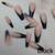 Colorful Long Coffin French Tips | Ready to Ship | Quickie | Full Set