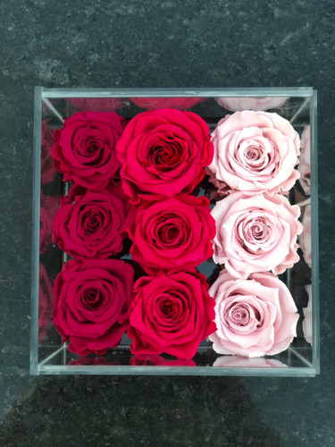Red Ombré Design Eternity Roses