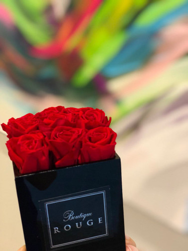Black Acrylic Box with Petite Roses