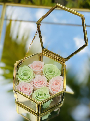 Easter Tray Decor with Preserved Roses