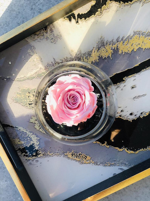 Eternity Rose in a Glass Bowl
