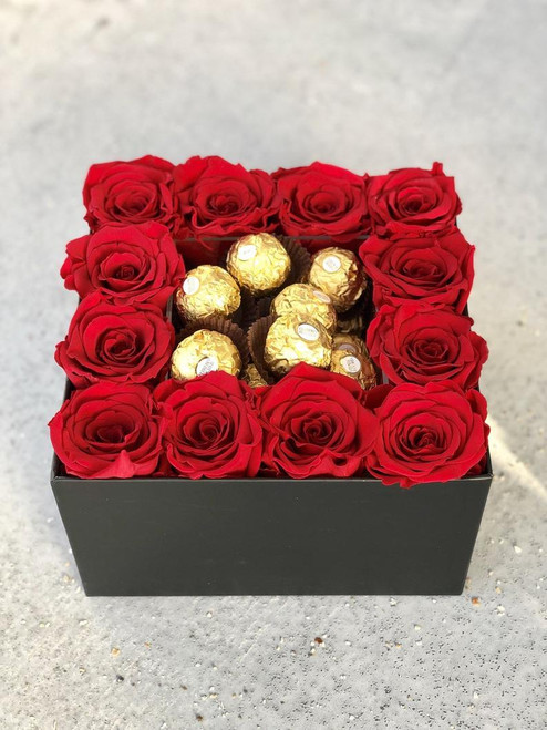Eternity Roses with Chocolate