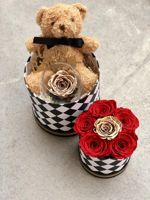 Mackenzie Child Inspired Box with Roses