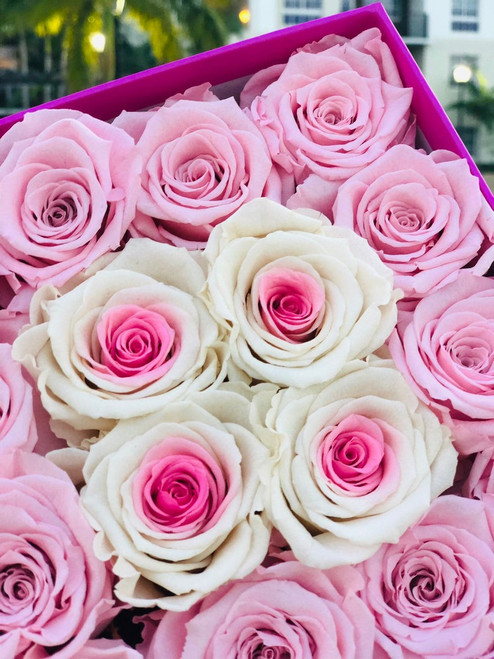16 Eternity Roses for Baby Showers