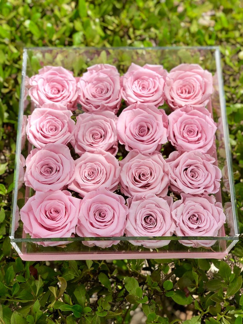 16 Roses Acrylic Box Arrangement