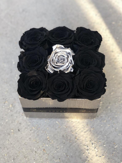 Silver Square Centerpiece