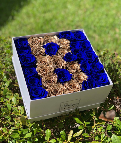 Letter Preserved Roses In a Box