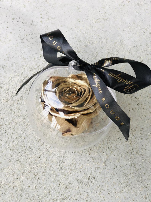 Christmas Ornaments with Preserved Roses