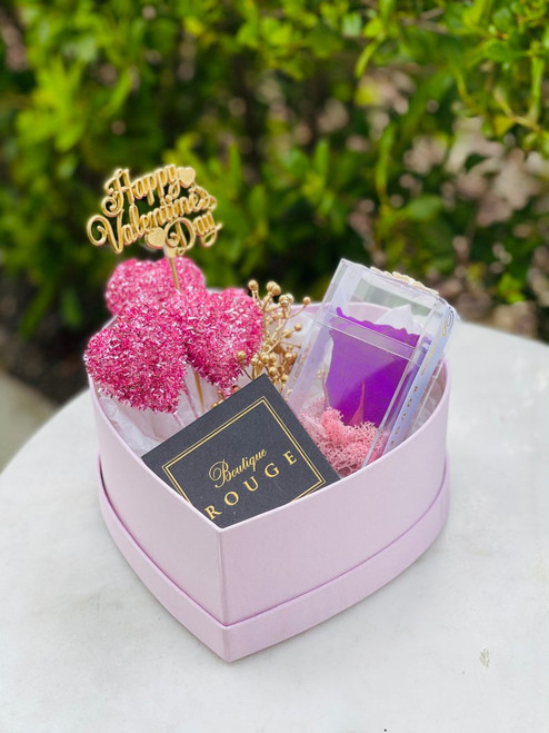 Pink Heart Shape Gift Box