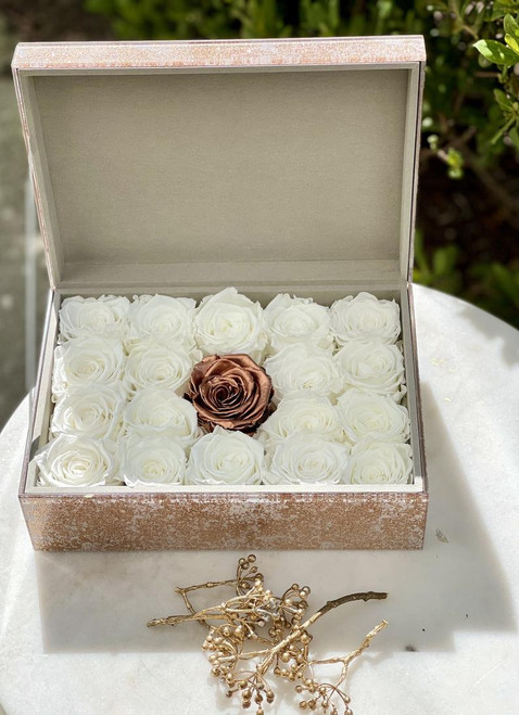 Home Decor Accent Box with Preserved Roses