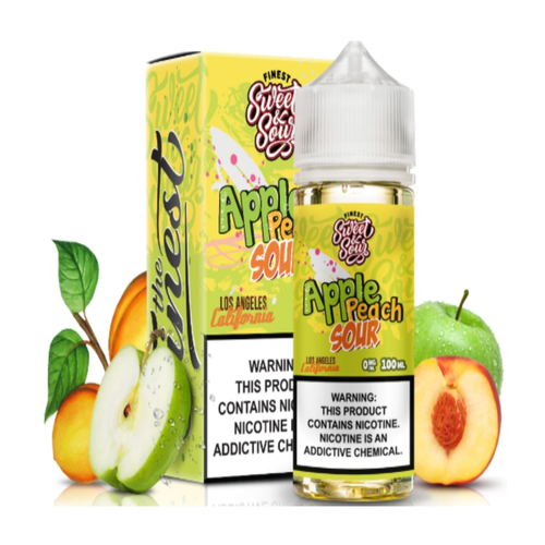 A balanced fusion of mouthwatering apples and peaches on the inhale, and just the touch of sour on the exhale, this mix epitomizes the definition of sweet and sour in flavored e-liquid form.
