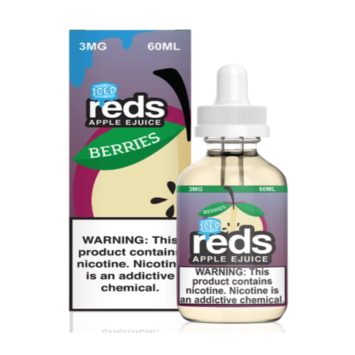 Original Reds Apple ICED paired with raspberry, blueberry and pomegranate.